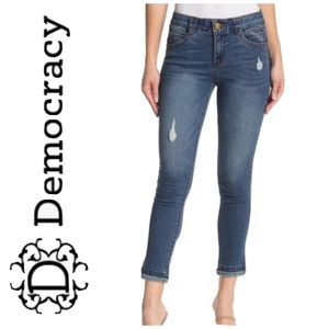 Democracy Freedom Ankle Skimmer Jeans Sz 4